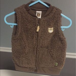 Carter's Brown Bear fluffy Vest